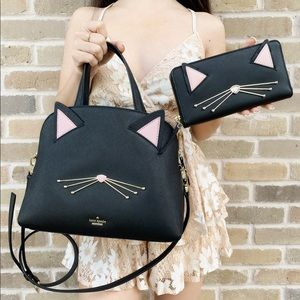 Kate spade CAT satchel + wallet BUNDLE